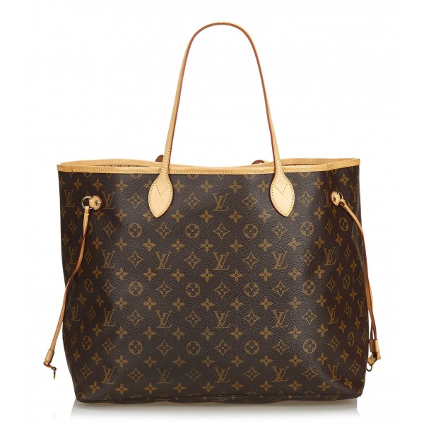 Louis Vuitton Vintage - Neverfull GM Bag - Marrone - Borsa in Pelle e Tela Monogramma - Alta Qualità Luxury