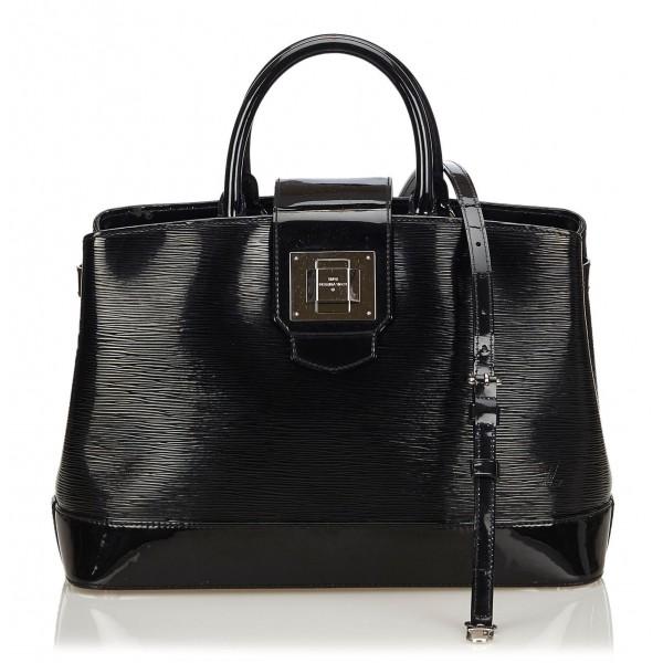 77ae6b5ba756 Louis Vuitton Vintage - Electric Mirabeau GM Bag - Black - Leather and Epi Leather  Handbag