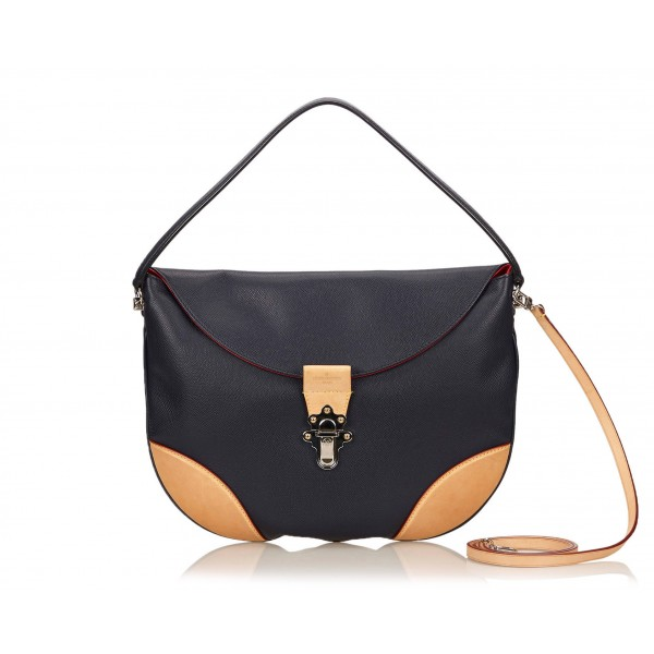 Louis Vuitton Vintage - Moon Besace GM Bag - Black & Brown - Taiga Leather and Leather Handbag - Luxury High Quality