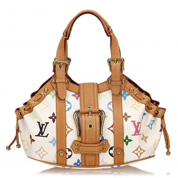 Louis Vuitton Vintage - Theda PM Bag - White Multi - Leather with Monogram Canvas Handbag - Luxury High Quality
