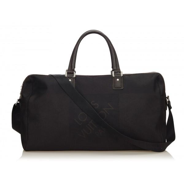 Louis Vuitton Vintage - Damier Geant Albatros Bag - Black - Damier Canvas and Leather Handbag - Luxury High Quality