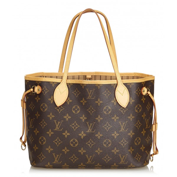 Louis Vuitton Vintage - Neverfull PM Bag - Marrone - Borsa in Pelle e Tela Monogramma - Alta Qualità Luxury