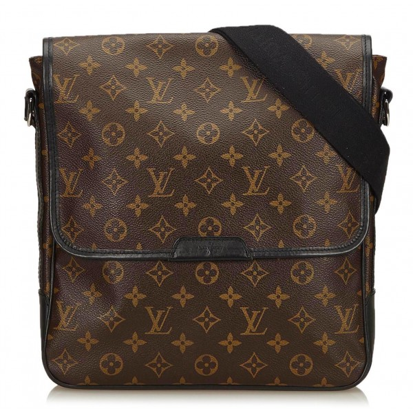 Louis Vuitton Vintage - Macassar Bass MM Bag - Marrone - Borsa in Pelle e Tela Monogramma - Alta Qualità Luxury