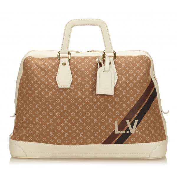 Louis Vuitton Vintage - Mini Lin Initiales Isfahan Travel Bag - Brown Camel - Fabric and Leather Handbag - Luxury High Quality