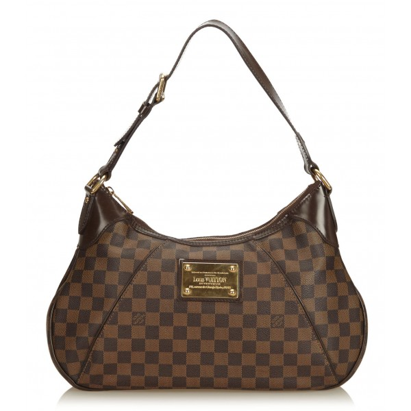 Louis Vuitton Vintage - Damier Ebene Thames GM Bag - Marrone - Borsa in Pelle e Tela Damier - Alta Qualità Luxury