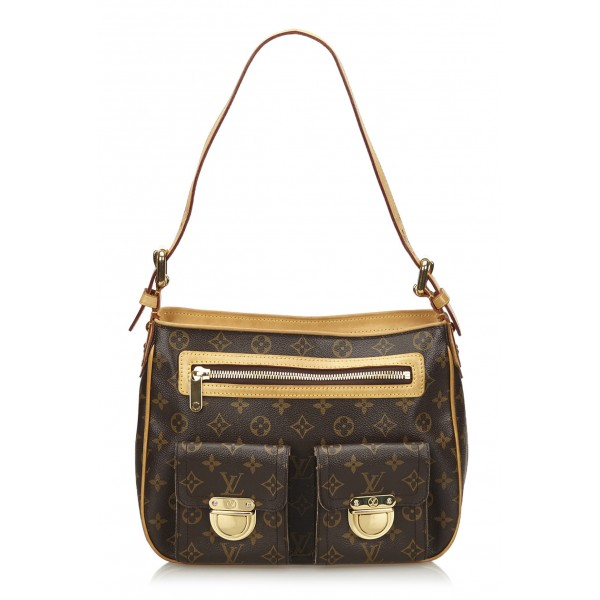 Louis Vuitton Vintage - Monogram Hudson GM Bag - Brown - Monogram Canvas and Leather Handbag - Luxury High Quality