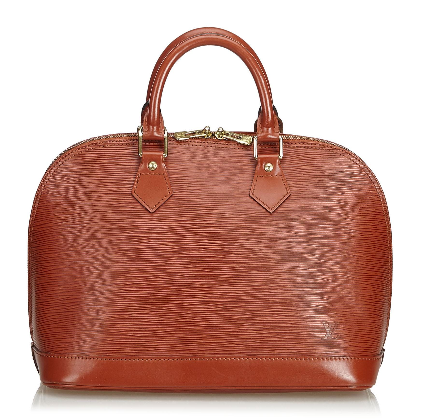 7d3c8271c80 Louis Vuitton Vintage - Epi Alma PM Bag - Brown - Leather and Epi ...