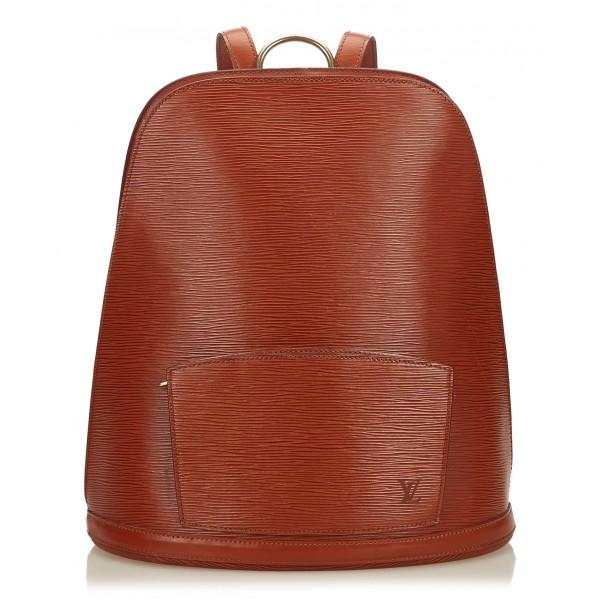 Louis Vuitton Vintage - Epi Gobelins Bag - Marrone - Borsa Zaino in Pelle Epi e Pelle - Alta Qualità Luxury