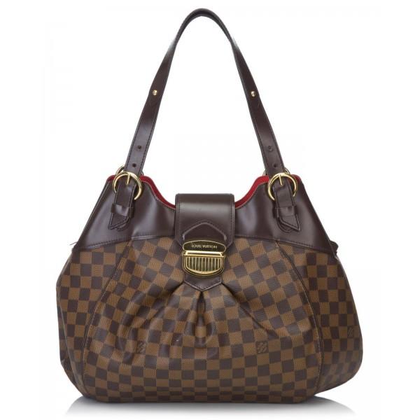 c3c529597644 Louis Vuitton Vintage - Damier Ebene Sistina GM Bag - Brown - Damier Canvas  and Leather