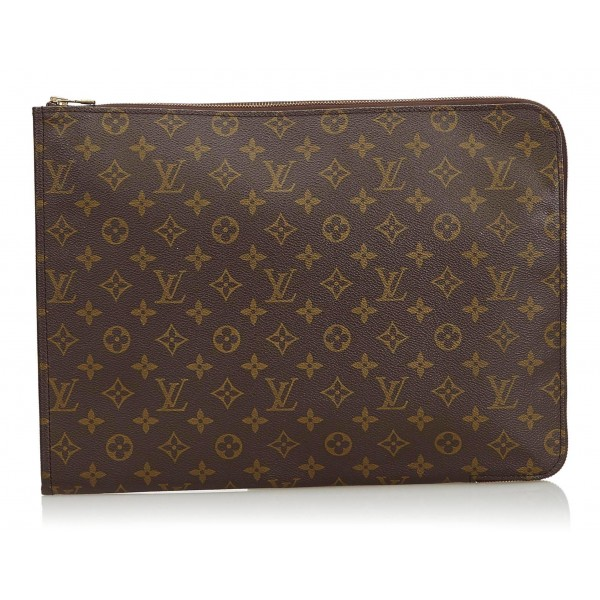 03c4416abb95 Louis Vuitton Vintage - Monogram Poche Documents Portfolio Bag - Brown -  Canvas and Leather Handbag - Luxury High Quality - Avvenice
