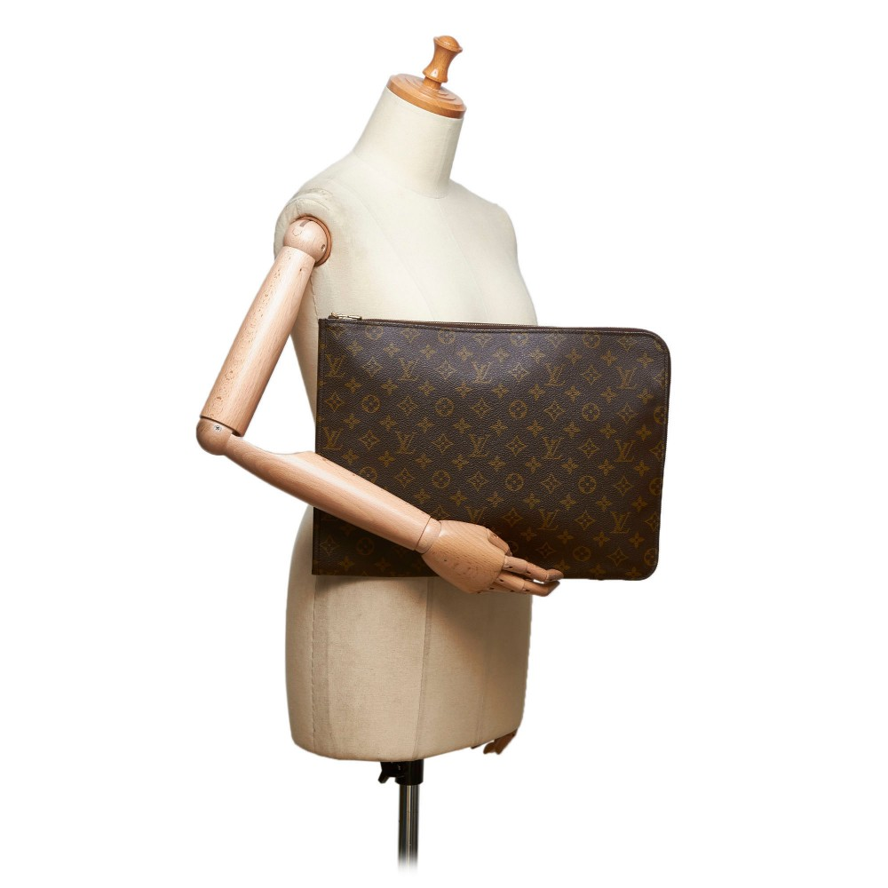 8a561f5757bd ... Louis Vuitton Vintage - Monogram Poche Documents Portfolio Bag - Brown  - Canvas and Leather Handbag