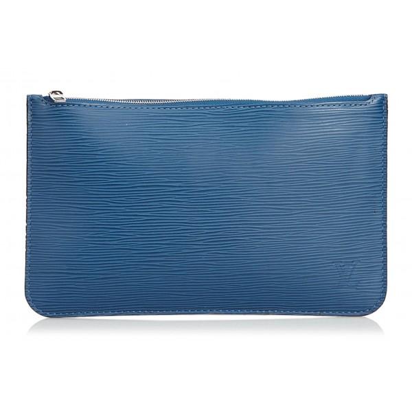 Louis Vuitton Vintage - Epi Pouch - Blu - Pouch in Pelle Epi e Pelle - Alta Qualità Luxury