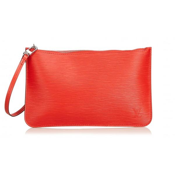 Louis Vuitton Vintage - Epi Wristlet Pouch - Rosso - Pouch in Pelle Epi e Pelle - Alta Qualità Luxury