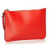 Louis Vuitton Vintage - Epi Wristlet Pouch - Red - Leather and Epi Leather Pouch - Luxury High Quality