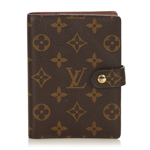 Louis Vuitton Vintage - Monogram Agenda PM - Marrone - Agenda in Pelle Monogramma e Pelle - Alta Qualità Luxury