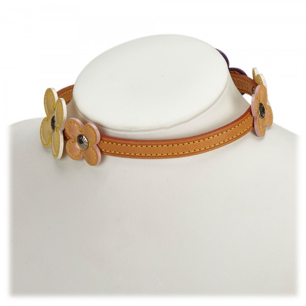 Louis Vuitton Vintage - Vernis Fleurs Double Wrap Bracelet Choker - Viola Multi - Collare LV - Alta Qualità Luxury