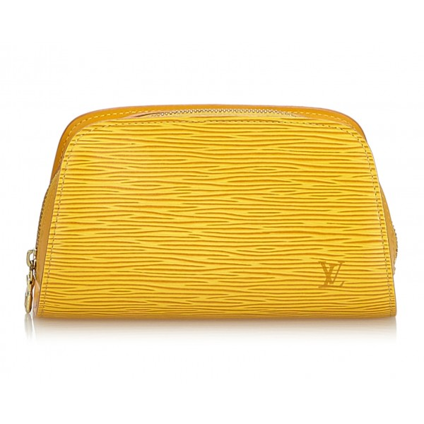 Louis Vuitton Vintage - Epi Pouch - Gialla - Pouch in Pelle Epi e Pelle - Alta Qualità Luxury