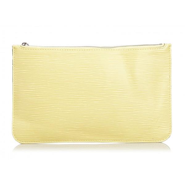 Louis Vuitton Vintage - Epi Pouch - Beige - Pouch in Pelle Epi e Pelle - Alta Qualità Luxury