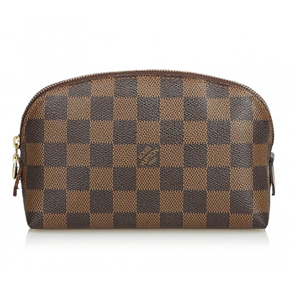 Louis Vuitton Vintage - Damier Ebene Cosmetic Pouch - Brown - Damier Canvas and Leather Handbag - Luxury High Quality