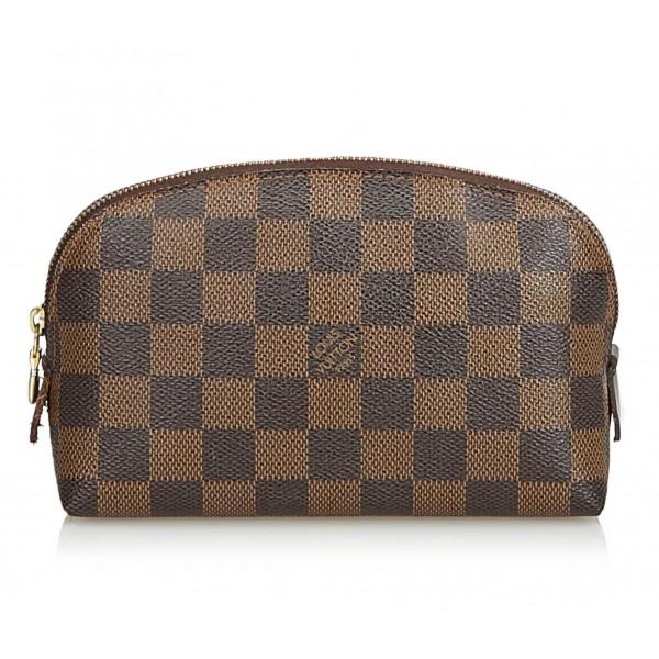 Louis Vuitton Vintage - Damier Ebene Cosmetic Pouch - Marrone - Borsa in Pelle e Tela Damier - Alta Qualità Luxury