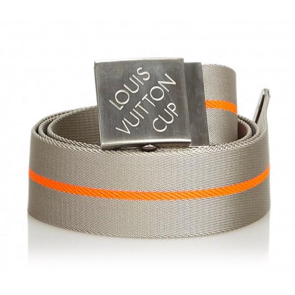 Louis Vuitton Vintage - LV Cup Nylon Belt - Gray - Fabric and Nylon Belt - Luxury High Quality