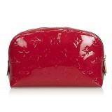 Louis Vuitton Vintage - Vernis Leather Cosmetic Pouch - Rossa - Pouch in Pelle Vernis - Alta Qualità Luxury