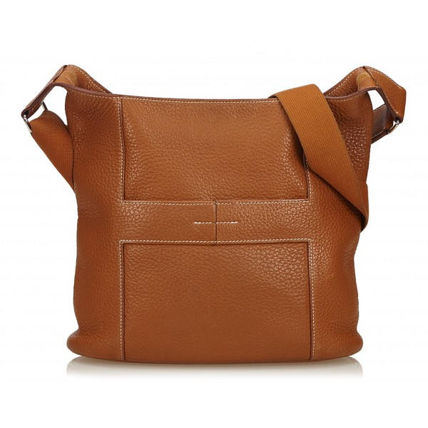 Hermès Vintage - Taurillon Sac Good News PM Bag - Brown - Leather Handbag - Luxury High Quality