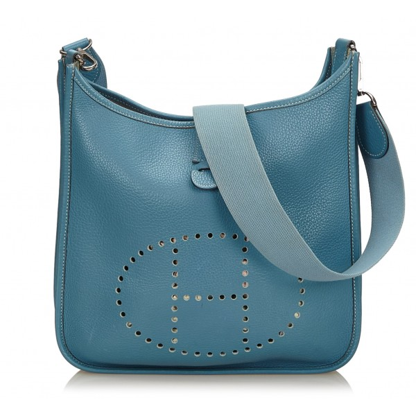 Hermès Vintage - Evelyne II PM Bag - Blue - Leather Handbag - Luxury High Quality