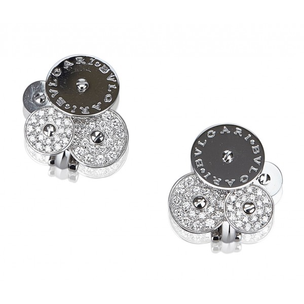 Bulgari Vintage - Diamond Cicladi Earrings - Bvlgari Earrings in 18K White Gold with Diamond Set - Luxury High Quality