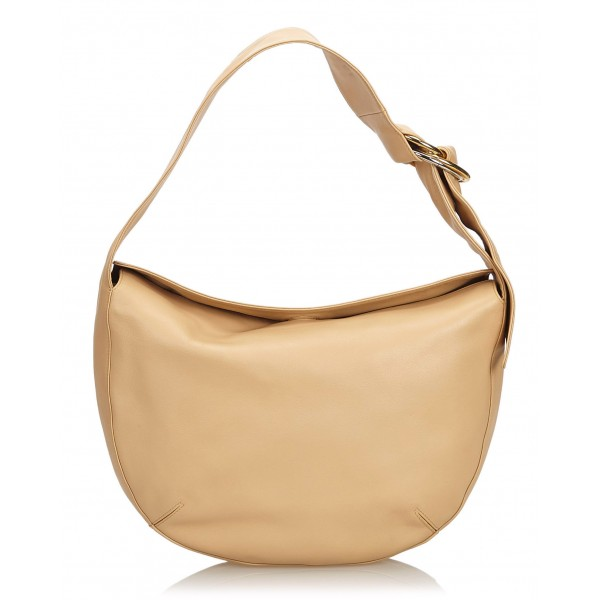 Cartier Vintage - Leather Shoulder Bag - Marrone Beige - Borsa a Tracolla in Pelle - Alta Qualità Luxury