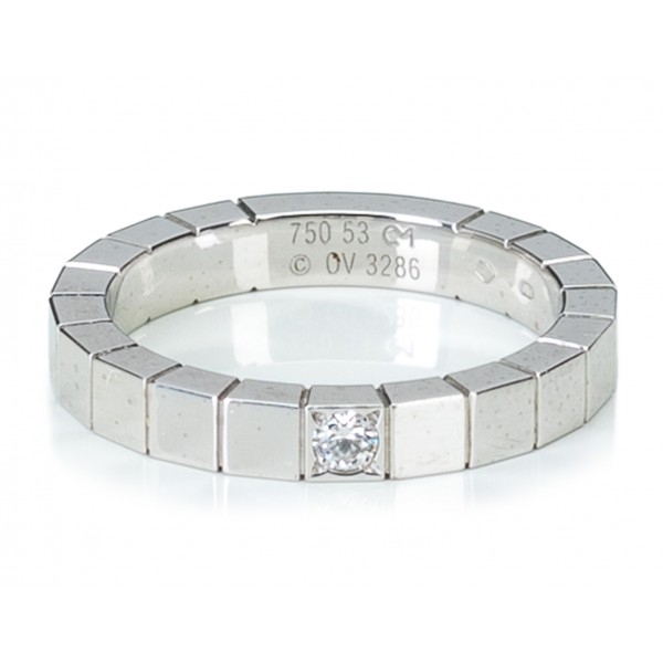 Cartier Vintage - Diamond Lanieres Ring - Cartier Ring in White Gold and Diamonds - Luxury High Quality