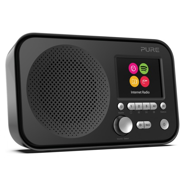 Pure - Elan IR3 - Nero - Radio Internet Portatile con Spotify Connect - Schermo a Colori - Radio Digitale di Alta Qualità