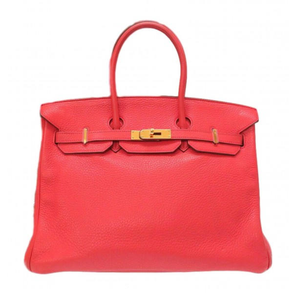 Hermès Vintage - Clemence Birkin 35 Bag - Pink - Leather and Calf Handbag - Luxury High Quality
