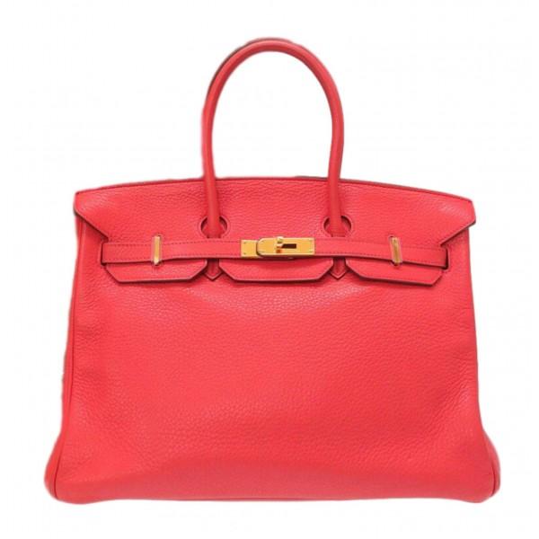 Hermès Vintage - Clemence Birkin 35 Bag - Rosa - Borsa in Pelle e Vitello - Alta Qualità Luxury
