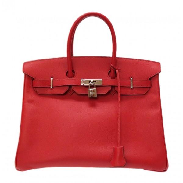 Hermès Vintage - Epsom Birkin 35 Bag - Rossa - Borsa in Pelle e Vitello - Alta Qualità Luxury