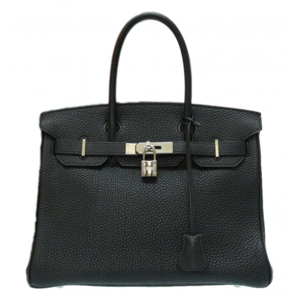 Hermès Vintage - Togo Birkin 30 Bag - Black - Leather and Calf Handbag - Luxury High Quality