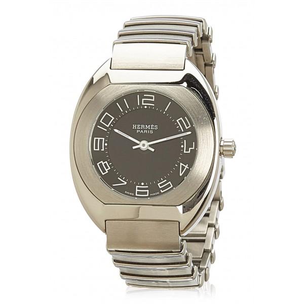 Hermès Vintage - Espace ES 1.210 Ladies Watch - Argento - Orologio in Acciaio Inossidabile - Alta Qualità Luxury