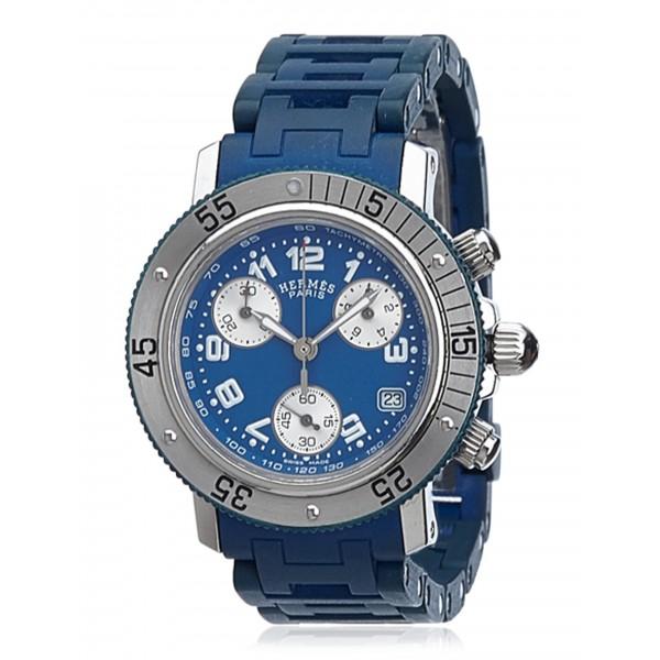 Hermès Vintage - Clipper Diver Watch - Blu Argento - Orologio in Acciaio Inossidabile - Alta Qualità Luxury
