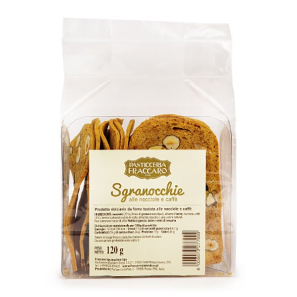 Pasticceria Fraccaro - Sgranocchie with Hazelnuts and Coffee - Snack - Fraccaro Spumadoro
