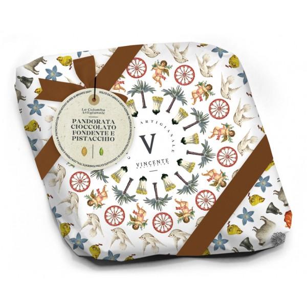 Vincente Delicacies - Moresca - Colomba Artigianale - Cioccolato Fondente e Crema di Pistacchio di Bronte - Fastuca Line