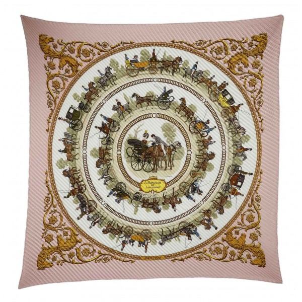 Hermès Vintage - La Promenade De Longchamps Silk Scarf - Pink Multi - Silk Foulard - Luxury High Quality