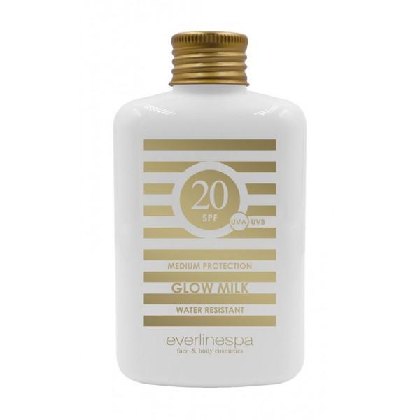 Everline Spa - Perfect Skin - Latte Solare SPF 20 Protezione Media - Resistente all'Acqua - Sun Protection - Professional