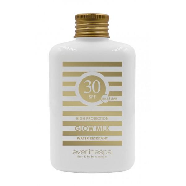 Everline Spa - Perfect Skin - Latte Solare SPF 30 Protezione Alta - Resistente all'Acqua - Sun Protection - Professional