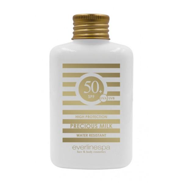 Everline Spa - Perfect Skin - Precious Milk SPF 50 Protezione Alta - Resistente all'Acqua - Sun Protection - Professional