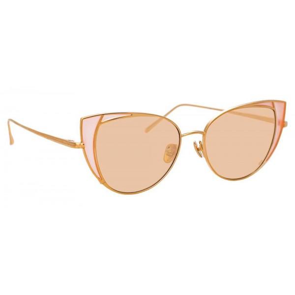Linda Farrow - Occhiali da Sole Cat Eye 855 C8 - Oro Rosa - Linda Farrow Eyewear