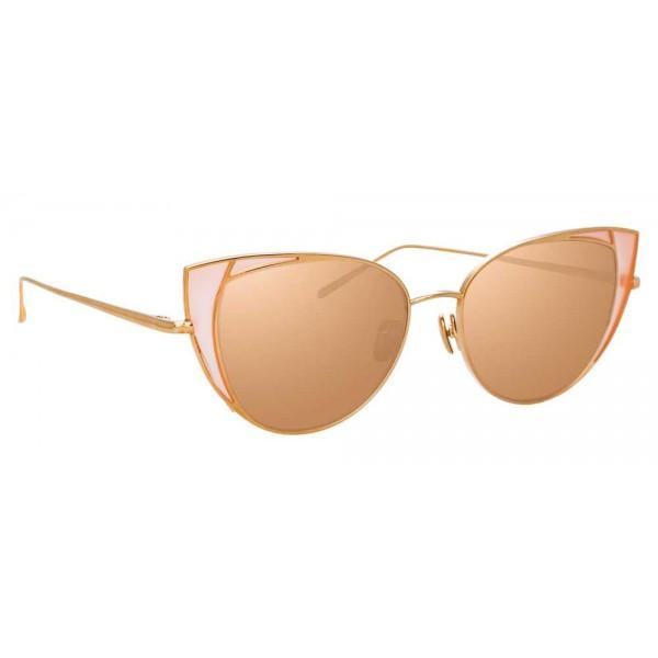 Linda Farrow - 855 C6 Cat Eye Sunglasses - Rose Gold and Peach - Linda Farrow Eyewear - Alessandra Ambrosio Official