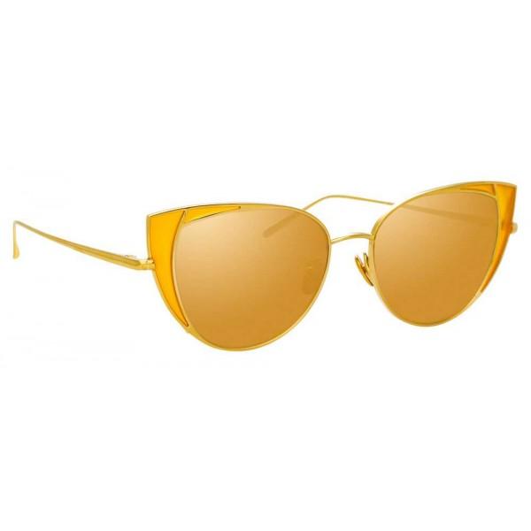 Linda Farrow - Occhiali da Sole Cat Eye 855 C4 - Oro Giallo - Linda Farrow Eyewear