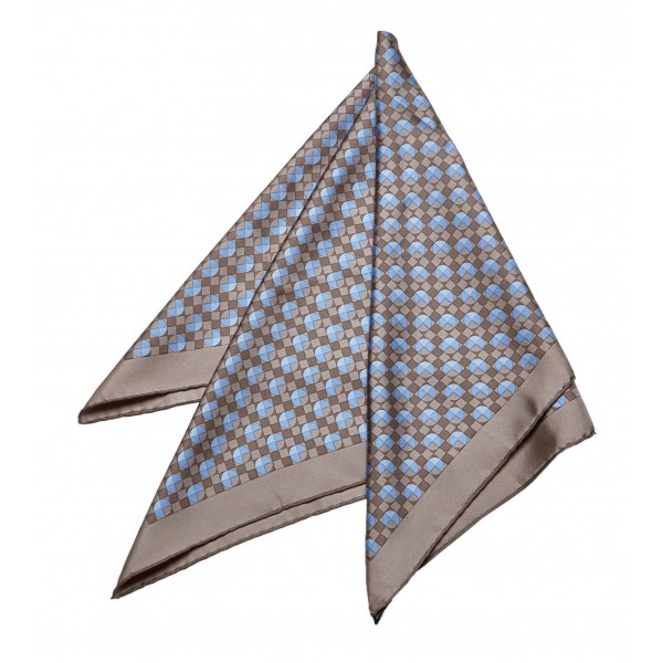Hermès Vintage - Printed Silk Scarf - Blu Multi - Foulard in Seta - Alta Qualità Luxury