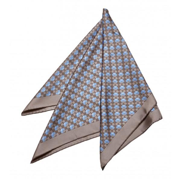 Hermès Vintage - Printed Silk Scarf - Blue Multi - Silk Foulard - Luxury High Quality