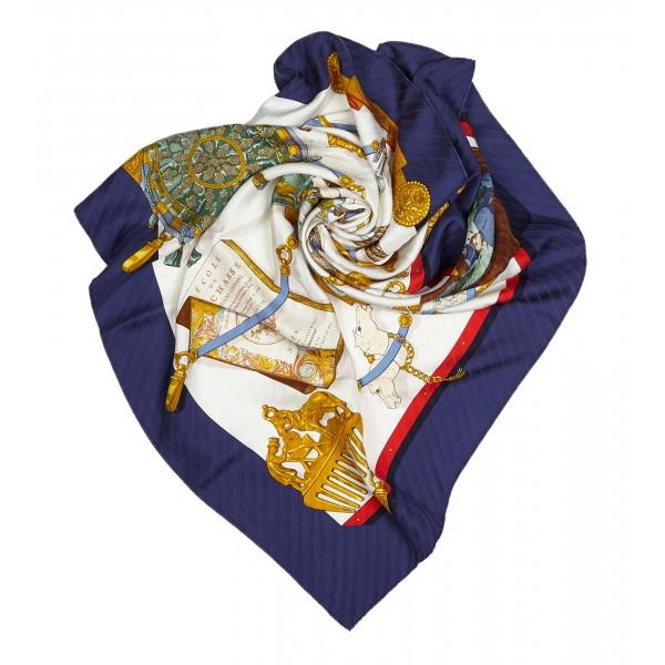 Hermès Vintage - Memoire d'Hermes Silk Scarf - White Multi - Silk Foulard - Luxury High Quality